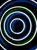 Circular lights. Colorful circular light against dark black background Stock Image