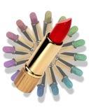 Circular lipstick Royalty Free Stock Image