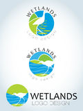 Circular logo design wetlands Royalty Free Stock Photos