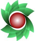 Circular logo. Green-red circular logo for something Royalty Free Stock Photography