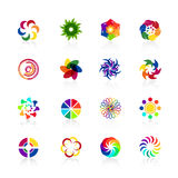 Circular logo shapes Stock Images