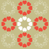 Circular love heart pattern background Royalty Free Stock Images