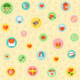 Circular Love Pattern Stock Photo