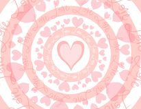 Circular Love Valentine's Day Background Royalty Free Stock Photos