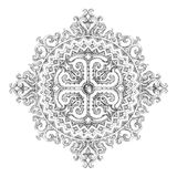 Circular mandala with floral ethnic patterns and ornaments Stock Photo