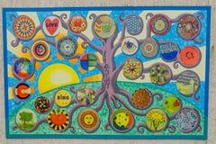 Circular Mandala Mural Hanging at Nanny Park - Baraboo, WI