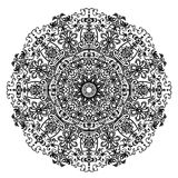 Circular mandala pattern with Slavic motifs and elements of the animal style   illustration Stock Image