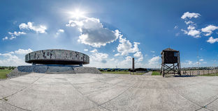 Circular Mausoleum at the Majdanek. Panorama Royalty Free Stock Images