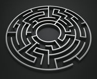Circular maze Royalty Free Stock Images