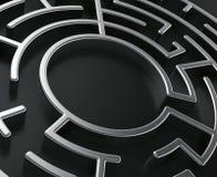 Circular maze Stock Image