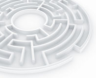 Circular maze Royalty Free Stock Image
