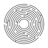 Circular maze black on a white background Royalty Free Stock Photography