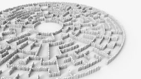 Circular maze structure made of thousands of cylindrical columns Royalty Free Stock Image