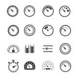 Circular Measurement Meter icons set Stock Images