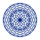 The circular mesh pattern in blue. On a white background Royalty Free Stock Image