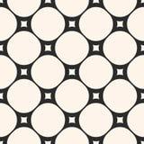 Circular mesh texture. Vector seamless pattern with circles and Royalty Free Stock Photos
