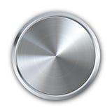 Circular metal button Stock Images