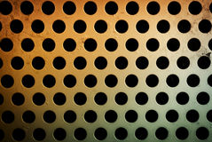 Circular metal grill texture Royalty Free Stock Images