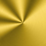 Circular metallic texture. Golden shiny background Stock Images