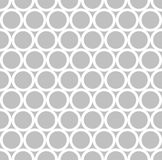 Circular Monochrome Pattern. White Circular Outline on Silver Color Background Stock Image