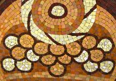 circular-motif-glazed-tile-mosaic Royalty Free Stock Photo