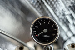 Motorcycle Speedometer Silver Background Royalty Free Stock Image