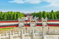 Circular Mound Altar in the complex Temple of Heaven in Beijing. Stock Photography