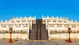 Circular Mound Altar at the Temple of Heaven in Beijing. UNESCO World Heritage site in China Stock Photo
