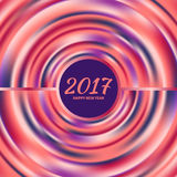 Circular multicolored rainbow. New Year 2017 celebration background. Frame of circular multicolored rainbow.Greeting card template. Vector illustration Royalty Free Stock Photos