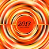 Circular multicolored rainbow. New Year 2017 celebration background. Frame of circular multicolored rainbow.Greeting card template. Vector illustration Stock Photo