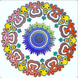 Circular Native Fairy Pattern Ornament Royalty Free Stock Photos