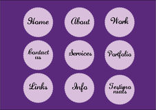 Circular navigation buttons. Vector circular  navigation buttons that can be used on websites Stock Image