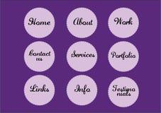 circular navigation buttons  Stock Image