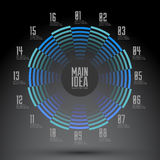 Circular numbered geometrical design, Diagram Stock Photography