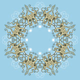 Circular Octopus Ornament. Card with colored circular ornament with octopus feelers. Round Pattern Mandala.Vector illustration Royalty Free Stock Photography