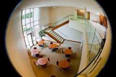 Circular office building cafeteria Royalty Free Stock Images
