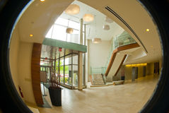 Circular office building lobby Stock Image