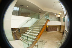 Circular office building lobby Stock Images