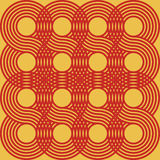 Circular Optical Pattern. Optical circle pattern in yellow and red. Can be used as is or seamlessly tiled for a background Royalty Free Stock Photo