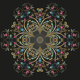 Circular ornament. Abstract circular pattern on a dark background royalty free illustration