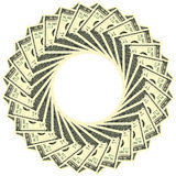 Circular ornament 100 dollars. Circular ornament one hundred dollar bill obverse Stock Image