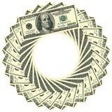 Circular ornament 100 dollars Royalty Free Stock Photo