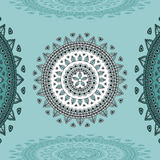 Circular ornament on marine blue Background Royalty Free Stock Photo