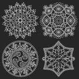 Circular  ornament. Round pattern mandala. Circular  ornament set. Round pattern mandala Royalty Free Stock Photo