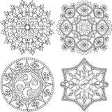Circular ornament set. Round pattern mandala. Circular ornament set. Round pattern mandala style Royalty Free Stock Photo