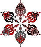Circular ornament from six elements. It is easily recoloured vector illustration
