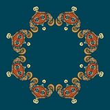 Circular ornament vector design. Circular ornament can be used as wallpaper or greeting card, site background and other royalty free illustration