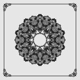 Circular, ornamental design; Vintage arabesques mandala/rosette Stock Photography