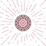 Vector Geometric Sun Emblem Stock Image