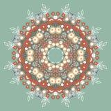 Circular-ornamento de las flores Imágenes de archivo libres de regalías